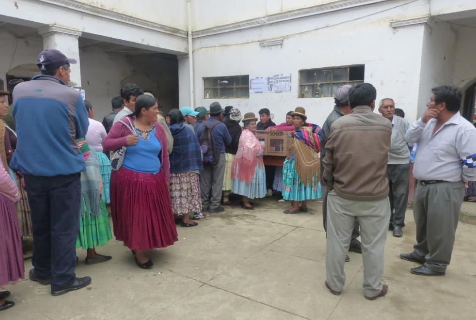 Voting station in Sorata, Bolivia