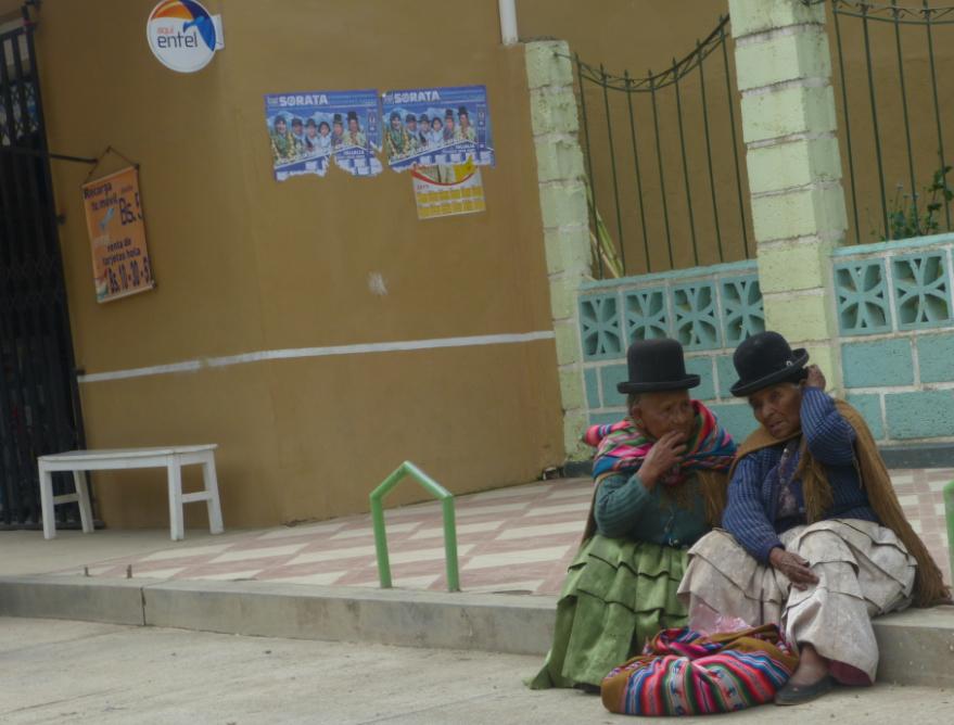 Villagers in Sorata, Bolivia