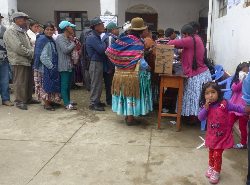 Voting station, Sorata, Bolivia